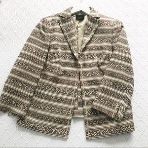 Akris Scroll Stripe Blazer Jacket SZ US 14